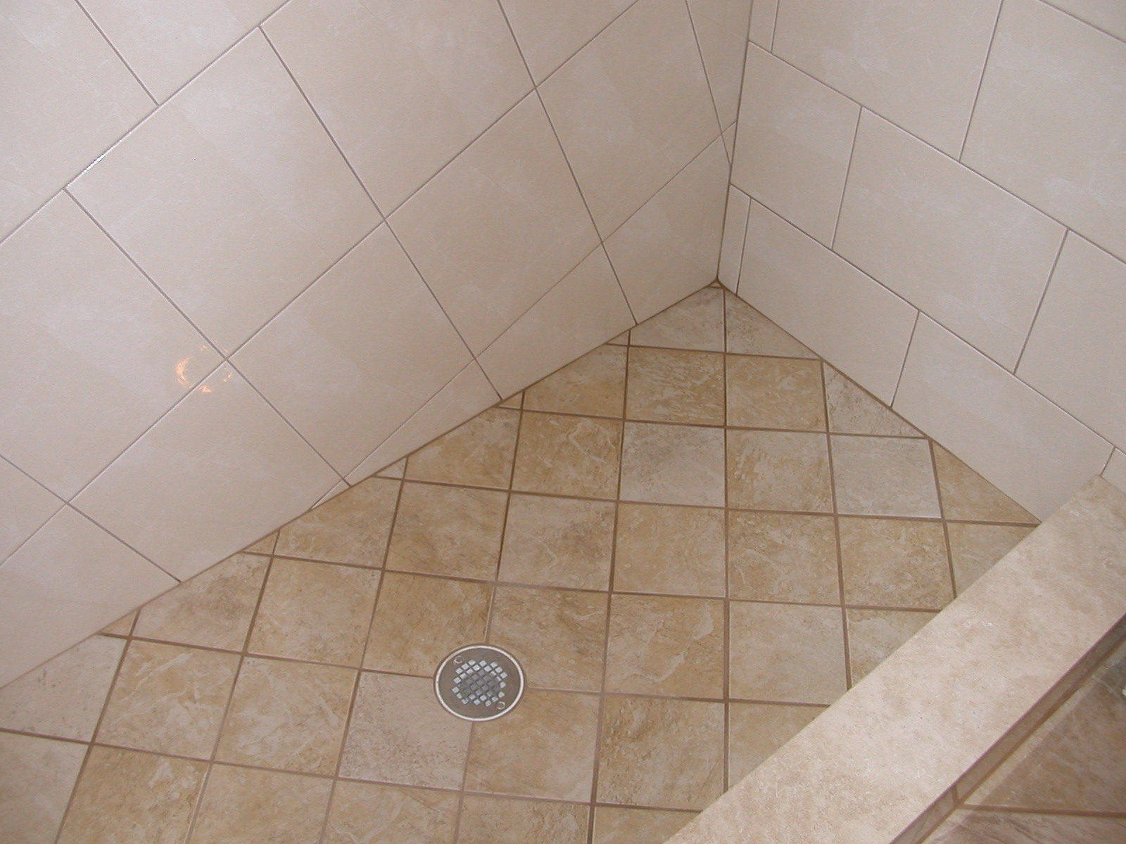 How To Tile A Shower Floor And Walls Image Cabinets And Shower